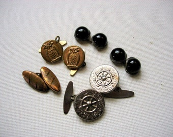 Neat Lot of Various Vintage Cuff Buttons