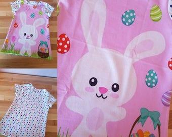 Handmade Toddler Girl EASTER Bunny tunic top! Sprint shirt! Size 3T!