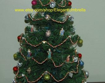 Pre-lit Tabletop Christmas Nativity Tree
