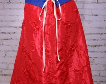 SALE Red Rose Swagger Skirt-Adjustable and Versatile