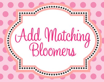 Add Matching Bloomers to my Order