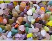 Custom Order For Michael - Studio Destash - 20 Glass Heart Beads 15mm x 5 Sets