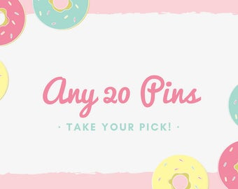 Any 18 pins- your pick!