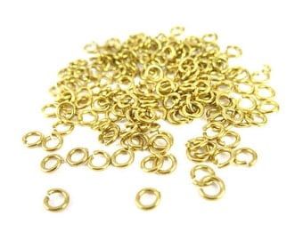 Gold Plated 5mm Round Jump Rings - 12 grams (approximately 140x) (19 gauge) K853-B