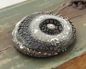 Raku Ceramic Cabochon Donut Raku Jewelry Supply Handmade by MAKUstudio