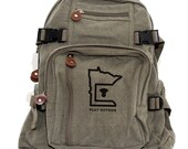 Backpack | Minnesota | Men Canvas Backpack | Women Mini Backpack | Laptop Bag | Hipster Backpack | Diaper Bag Backpack | Minnesota Gift