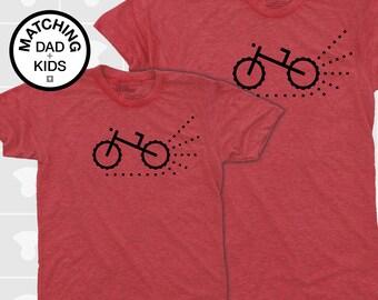 SALE! Matching Dad & Son Mountain Dirt Bike TShirt | Father Son Matching | Daddy Daughter Matching Shirts | Dad Baby Matching | Biking Gift
