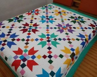 Queen  size Patchwork Complete Quilt