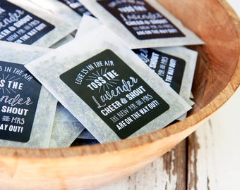 Dried Lavender for your Wedding Send Off - Exit Toss - Lavender Toss - 25 finished lavender packets