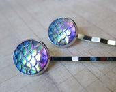 Mermaid Tales - Iridescent Lavender Mermaid Scale Hair Pins (2 pcs)