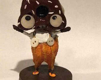 Charlie the chocolate  frosted DONUT Ooak doll