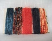 Blue Coral Art Yarn Bundle Fiber Yarn Scraps 1518