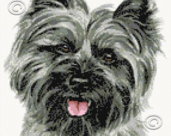 Cairn terrier counted cross stitch kit