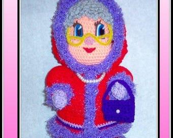Red Hat Alaska Doll Crochet Pattern, red hat doll, crochet doll, crochet red hat