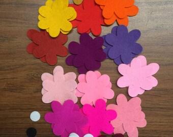 100% Wool Felt Daisies / Daisy Flowers