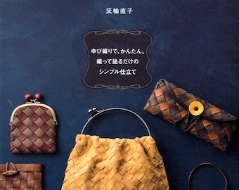 Nice Bags and Goods made by Leather Tapes - Japanese Craft Book