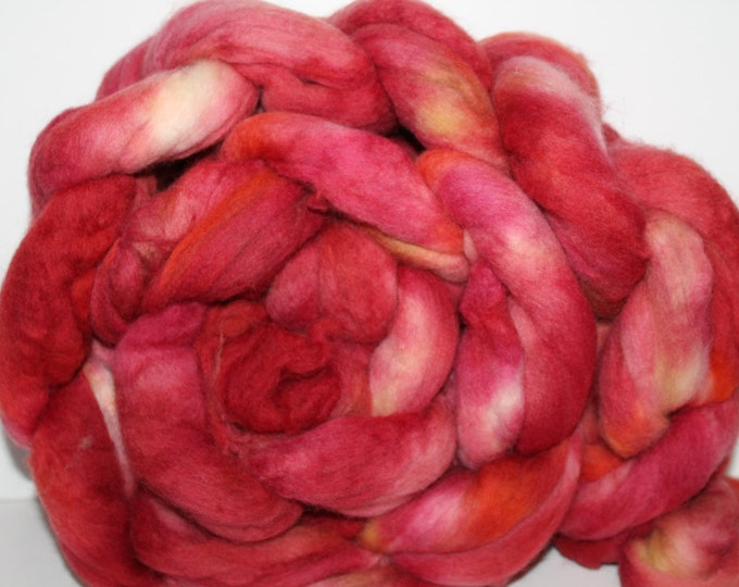Kette Dyed Polwarth wool top. Roving. Spin. Felt. Super Soft. 1lb. FREE SHIP #P9
