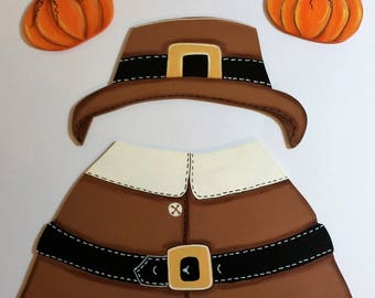 Hand Painted Changeable Seasonal Pilgrim Outfit only