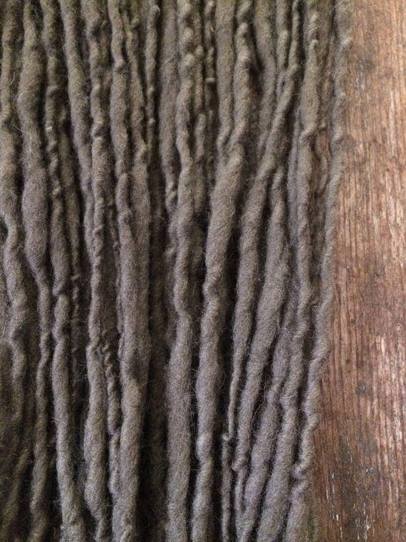 Peppermint and copper, handspun yarn, 42 yards, naturally dyed yarn, grey dyed yarn, plant dyed yarn, eco friendly yarn, rustic yarn