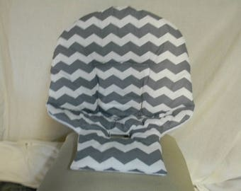 Baby Trend High Chair Cover In Gray Chevron