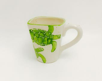 Sea Turtle Mugs, Sea, Turtle, Coffee, 16 oz, Handmade By Sara Hunter
