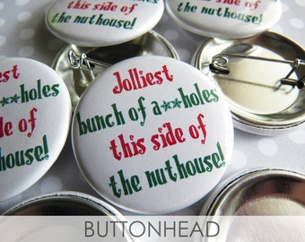National Lampoons Christmas Vacation Pins - Clark Griswold Button Pins - Set of 10
