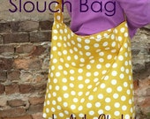 SALE PDF Sewing Pattern - Aivilo Slouch Bag - Easy purse to sew, great project for beginners - download instantly