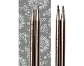 ChiaoGoo 4 Inch (10 cm) TWIST Lace Stainless Steel Knitting Needle Interchangeable Tips (All Sizes)