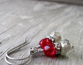 Drop Earrings - Bead Jewelry - Hypoallergenic - Boho Jewelry - Gift Idea - Red Earrings - Dangle Earrings - Handmade Earrings - Gift for Her