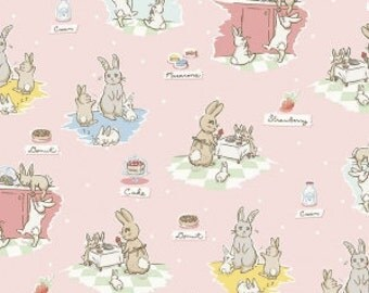 Bunnies And Cream - From Penny Rose Fabrics - By Lauren Nash - For Riley Blake - Pink - One Yard - 10.95 Dollars
