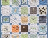 """Reserved for Patti BABY CLOTHES Quilt Heirloom Memory Quilt Custom Order 50"""" x 50"""" - Using Your Baby Clothes"""