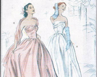 Butterick 4918 Misses Retro 1950s Gown Wedding Bridal Prom Dress Sewing Pattern Plus Sizes 14-20 Out of Print UNCUT