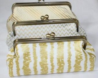 Gold and White Bridesmaid Clutch, Wedding Clutches, Custom Clutch, Bridesmaid gift, Clutch Purse, Wedding Gift, Bride Purse