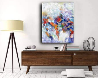 24 x 30 x .75 Original Painting Large Colorful Abstract Contemporary Acrylic Painting Modern Home Decor Elena
