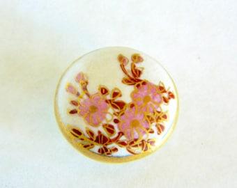Vintage Floral Satsuma Button