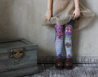 Cathedral Blythe Doll Stockings