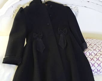 Vintage Girl's Rothschild Wool Hooded Coat