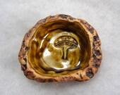 Amber and Iron Mushroom Crested Gecko Pet Dish or Trinket Dish