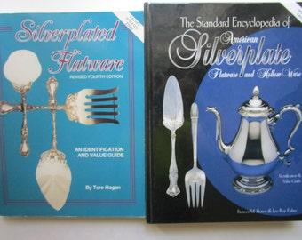 2- Silverplate Flatware Hollow Ware Encyclopedia Identification Value Books