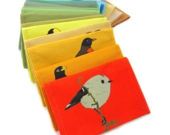 Canvas Bird Wallet--24 Styles--Tyvek-lined--Vegan--Bird Lover Gift
