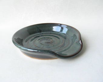 Spoon Rest, Pottery Spoon Rest, Ceramic Spoon Rest, Kitchen Spoon Rest