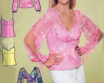 Misses Summer Top and Camisole Sewing Pattern Simplicity 4227 OOP Plus Size 8-18  Bust 31.5-40 UNCUT