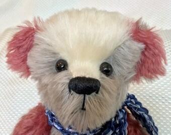 Teddy Bear: one-of-a-kind handmade mohair stuffed animal - Neapolitan