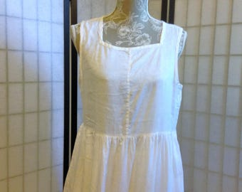 DKNY Linen Dress Pinafore Dress Size 10 Vintage 90s