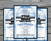 R2D2 Birthday Invite - Star Wars Birthday Invitation -  Birthday Invite -  Digital Printable DIY - Teen Kids Birthday Ideas