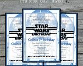 R2D2 Birthday Invite | Star Wars Birthday Invitation | R2D2 Digital Download | Birthday Invite | Printable DIY | Party Decorations