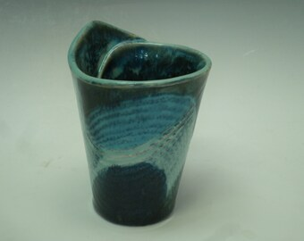 Blue Stoneware Cup