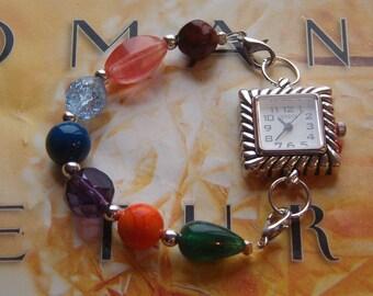 Interchangeable Bracelet Watch Band, Beaded Watch Band, Interchangeable Watch Band, Bracelet Band for Watch or Medical Alert