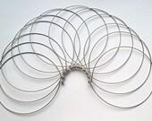 Metal Hoop Choker, Choker Necklace Round, Ball End Clasp Necklace, Wire Choker, 12 Pack Necklace Hoops