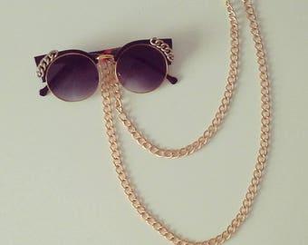 Neon Granny Singlasses, one ofa kind, customized piece.